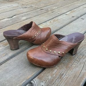 Women's DANSKO RUDY Studded Leather Clogs Mules